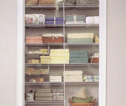 Wire Closet Solutions For The Linen/Coat Closet