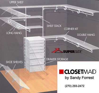 Superslide Shelving Allows Hangers To Slide Continuously Corner Kit Around Corners In Walk Closets